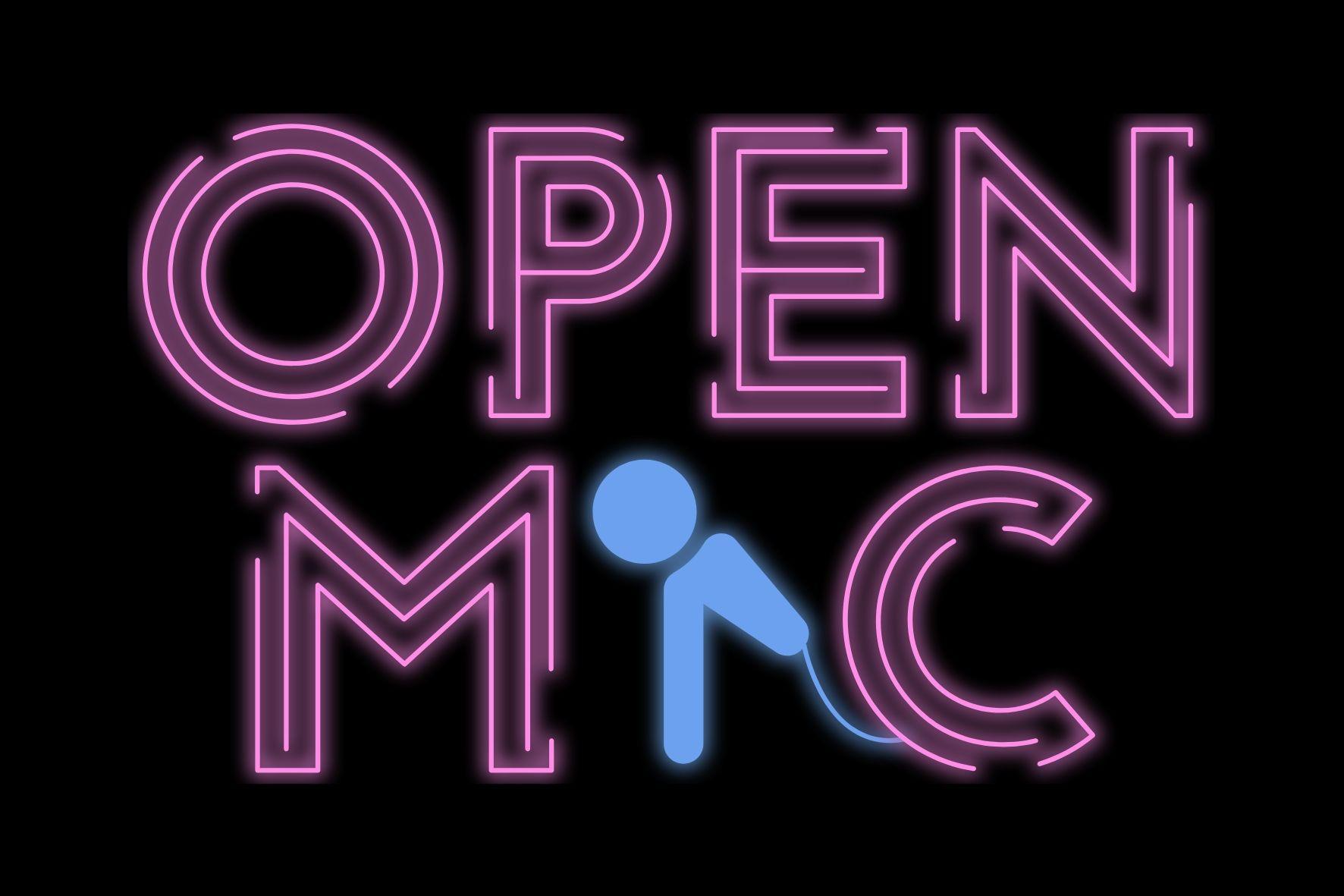 Neon Sign Open Mic