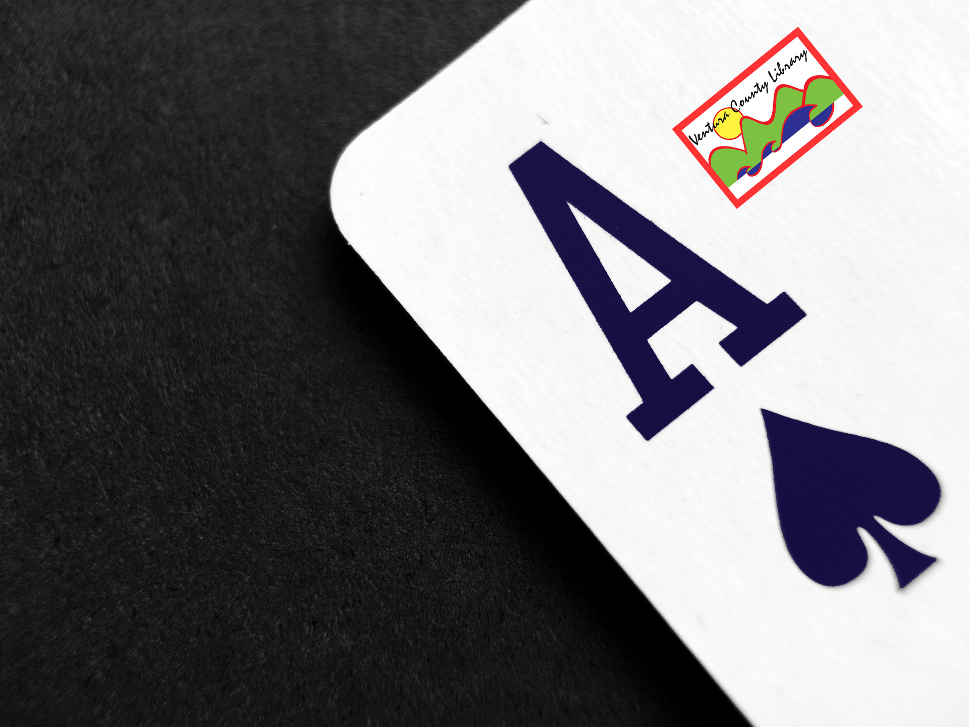 Photo of a playing card - the ace of spades