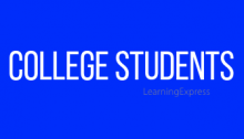 "Blue rectangle white words read ""College Students"""