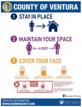 County of Ventura Stay in Place poster