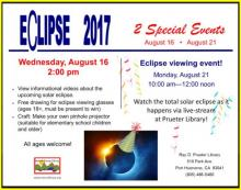 Eclipse 2017 at Prueter Library