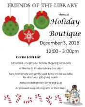 Flyer for Holiday Boutique